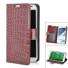 Protective Crocodile Grain PU Leather Case for Samsung Galaxy Note 2 N7100 - Brown