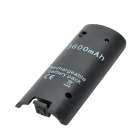 """3600mAh"" Rechargeable Ni-MH Battery Pack w/ USB Cable for Wii U - Black"