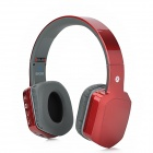 BH260 Folding Retractable Bluetooth v2.1 Stereo Headphones w/ Microphone - Red + Slate Grey