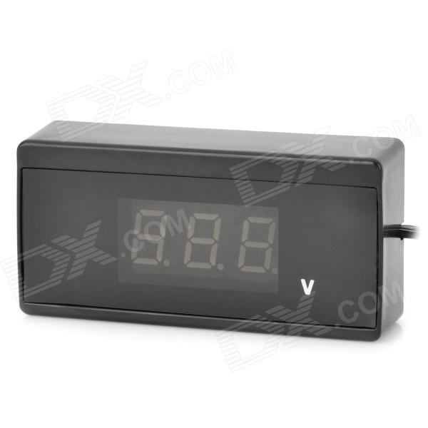 "1.4 ""LCD digital de coches Wired Voltímetro - Negro (DC 9 ~ 30V)"