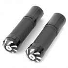 Replacement Motorcycle Aluminum Alloy Mechanical Cutting Handle Grips - Black (Pair)