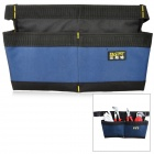 Fasite PT-N017 Dual Pockets Water Resistant Tool Waist Bag - Black + Blue