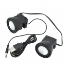 MINI-2 Portable Mini Speaker for Iphone 5 / Ipad - Black + Silver (2 PCS)