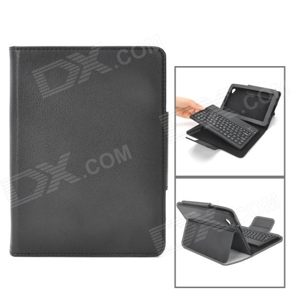 Protective PU Leather Case w/ Bluetooth V3.0 Keyboard for Samsung 6800 - Black