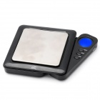 "NPOL 0.9"" LCD Screen Mini Digital Pocket Scale - Black + Silver (100g / 0.01g)"