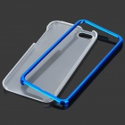 Protective PC Hard Back Case w/ Bumper Frame for Iphone 5 - Transparent + Deep Blue