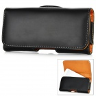 Protective PU Leather Case w/ Clip for Iphone 5 - Black