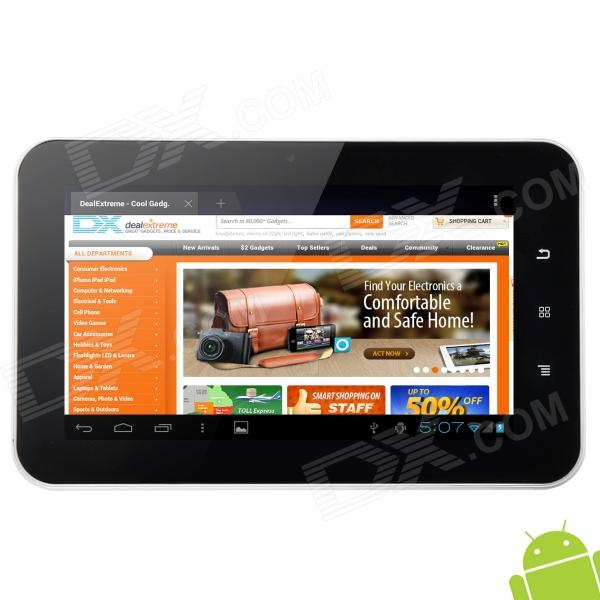 "TCC892x 7.0"" Android 4.0 Capacitive Touch Screen Tablet PC w/ Wi-Fi / TF / HDMI - White + Black"