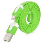 8 Pin Lightning Male to USB Male Data / Charging Cable for iPhone 5 + More - Green (90cm)