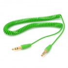 3.5mm Male to Male Plastic Audio Cable for MP3 / MP4 / Cellphones - Green (1.6m)