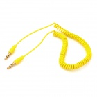 3.5mm Male to Male Plastic Audio Cable for MP3 / MP4 / Cellphones - Yellow (1.5m)
