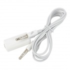 2-in-1 3.5mm Male to Female Microphone Earphones to Computer Headphones Adapter Cable - White