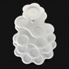 5-Layers Plastic + Stainless Steel Cup Cake Holder Stand - White