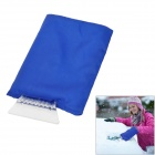 Water Resistant Car Vehicle Snow Scraper with Keep Warm Sleeve - Blue