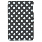 Polka Dot Pattern Protective Wake-UP/Sleep Case w/ Card Slot for Ipad MINI - Black + White