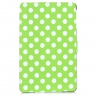 Polka Dot Pattern Protective Wake-UP/Sleep Case w/ Card Slot for Ipad MINI - Green + White
