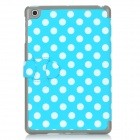 Motif Pois Wake-UP/Sleep étui de protection w / logement pour carte pour Ipad MINI - Bleu + Blanc