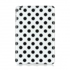 Polka Dot Pattern Protective Plastic Back Case for Ipad MINI - White + Black