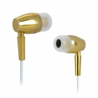 MDR-E55 Aluminum Alloy In-Ear Stereo Earphone - Golden + White (125cm Cable)