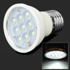 E27 4W 280lm 5500K 9-LED White Light Bulb - White (85~245V)