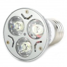 E27 3W 130lm 5500K White Light LED Bulb - Silver + White (85~220V)