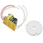 3W 120lm 6500K White Light 3-LED Emitter w/ LED Power Supply Driver - Silver + Green