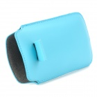 Protective PU Leather Top Flip-Open Case for Samsung Galaxy SIII Mini - Blue
