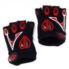 Professional Love Heart Style Anti-Slip Breathable Half-Finger Riding Gloves - Black (Size L)