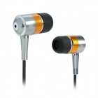 SE08 3.5mm Plug Aluminum Alloy Stereo In-Ear Earphone - Silver + Golden + Black (125cm-Cable)