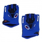 CE-03B Professional Anti-Slip Breathable Half-Finger Riding Gloves - Blue + Black (Size M)