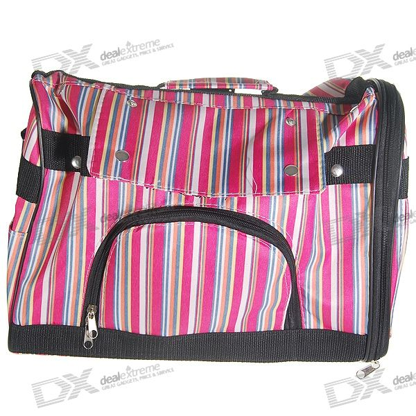 Striped Travelling/Carrying Bag for Pets - Large