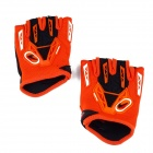 CE-03B Professional Anti-Slip Breathable Half-Finger Riding Gloves - Orange (Size XL)