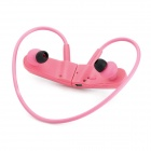 R03 Headset MP3 Player w/ USB / TF Card Slot / FM Radio / USB Cable - Pink + Silver