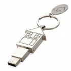 B049 Creative Small House Style USB 2.0 Flash Drive - Silver (4GB)