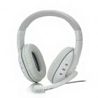 KE-200 Headset Headphone w/ Microphone - White + Dark Grey (175cm-Cable)