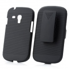Clip-On Protective Plastic Case for Samsung Galaxy S3 Mini I8190 - Black