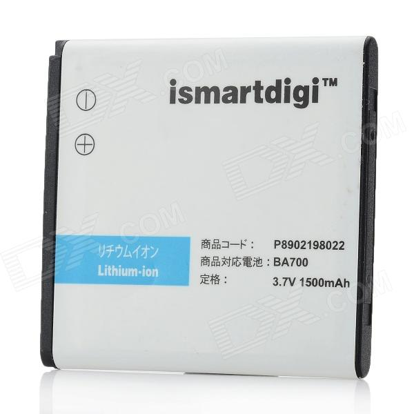 ismartdigi BA700 1500mAh 3.7V Replacement Battery for Sony Ericsson MT11i, ST18i, MK16i - White защитная пленка для мобильных телефонов motorola x 2 2 x 1 xt1097 0 3 2 5 d