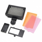 HD-126 7.6W 5600K 126-LED Video Light / Photoflood Lamp / Photography Luminaire - Black (6 x AA)