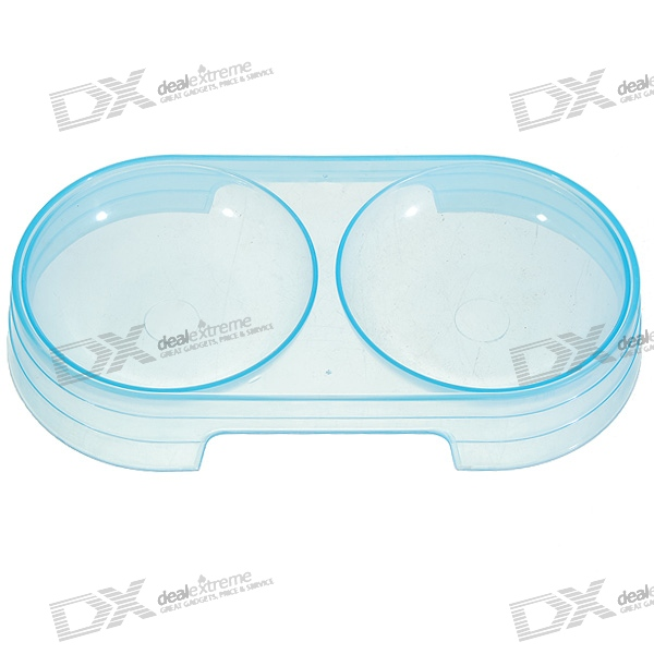 Portable Translucent Water and Food Tray for Pets