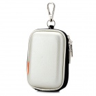 Universal Portable Protective PU Leather Bag Case for Digital Camera - Silver