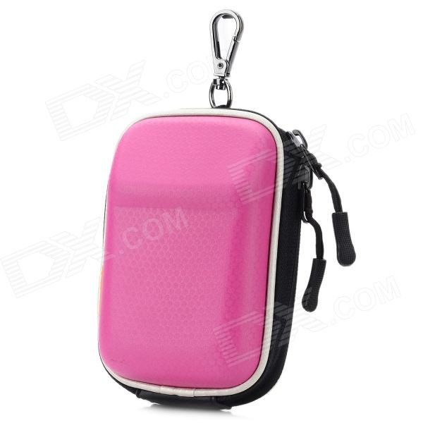 Universal Portable Protective PU Leather Bag Case for Digital Camera - Deep Pink