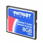 Patriot Compact Flash / CF 266X Memory Card - Blue + Black + Silver (8GB)