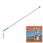 Retractable Aluminum Alloy Handheld Monopod Unipod for Digital Camera - Blue + Silver + Black