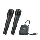 5-in-1 Wired Karaoke Microphone Set for PS3 PS2 PC Wii Xbox 360 -Black