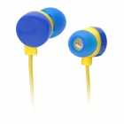 KEEKA KA-10 In-Ear Earphone w/ Cable Winder - Deep Blue + Yellow (120cm-Cable)