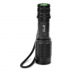 UltraFire E7 Cree XM-L T6 800lm 3-Mode White Zooming Flashlight - Black (1 x 18650 / 3 x AAA)