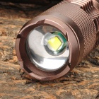 UltraFire SK68 800lm 5-Mode White Zooming Flashlight w/ Cree XM-L T6 - Brown (1x18650 / 2xCR123A)