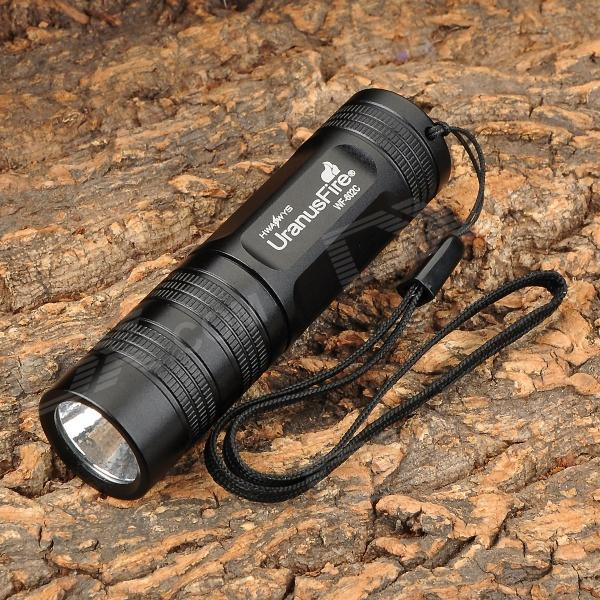 UranusFire WF-602C 200ml 5-Mode White Flashlight w/ Cree XR-E Q5 - Black (1 x CR123A / 1 x 16340)