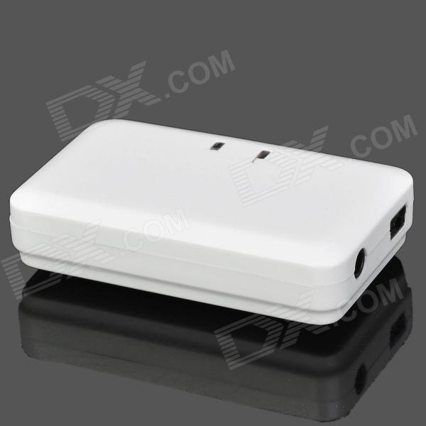 Rechargeable Bluetooth V2.0 Music Receiver für iPhone / iPad / Handy / PC - White