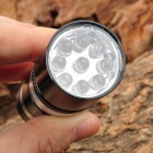 SMALL SUN ZY-8857 40lm 9-LED White Flashlight - Black + Silver (3 x AAA)